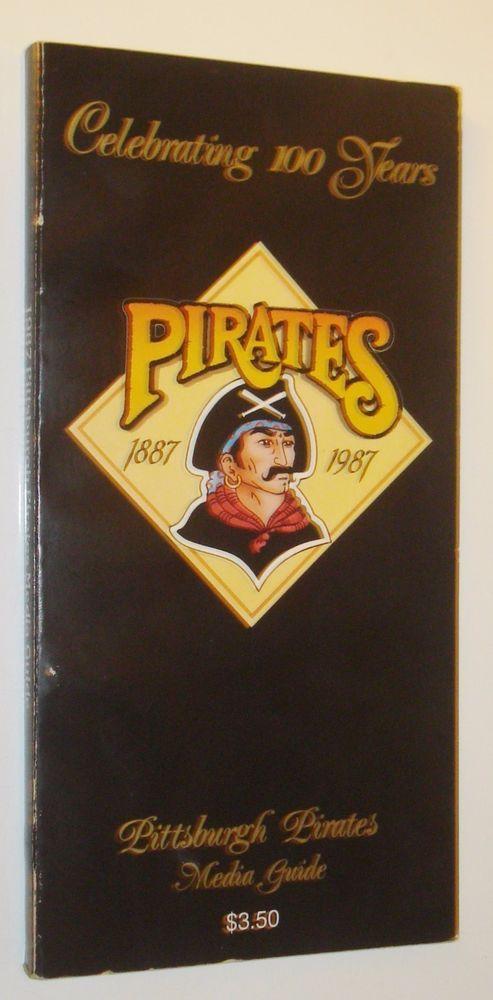 vintage 1987 pittsburgh pirates media guide - barry bonds jim leyland bonilla from $5.0