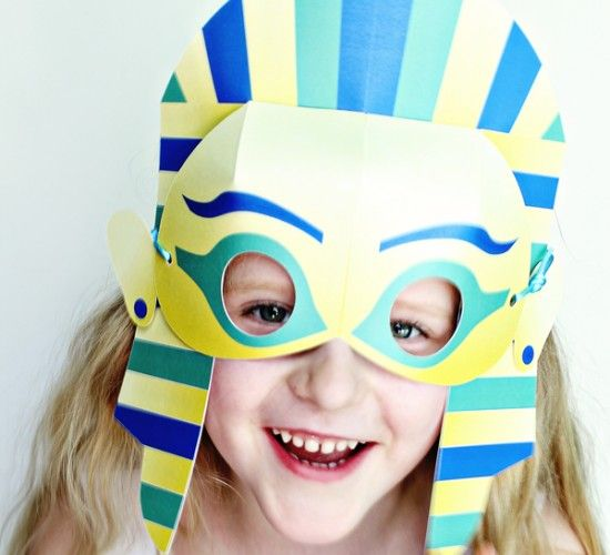Egyptian printables from mummies to king tut to for King tut mask template