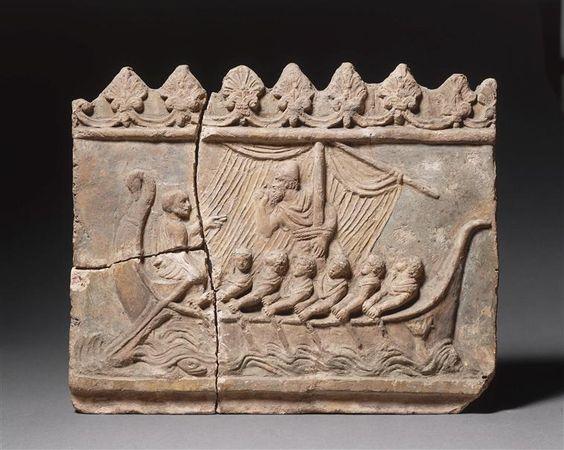 Plaque Campana décorative : Ulysse et les sirènes Paris, musée du LouvreRéunion des Musées Nationaux-Grand Palais -