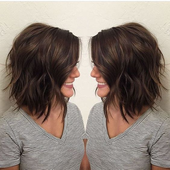 Shoulder Length Bob Haircut Pictures Thick Hair Styles Hair Styles Medium Hair Styles