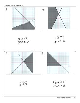 Worksheet Systems Of Inequalities Worksheet line diagram number lines and equation on pinterest graphing systems of inequalities walk around activity scavenger hunt