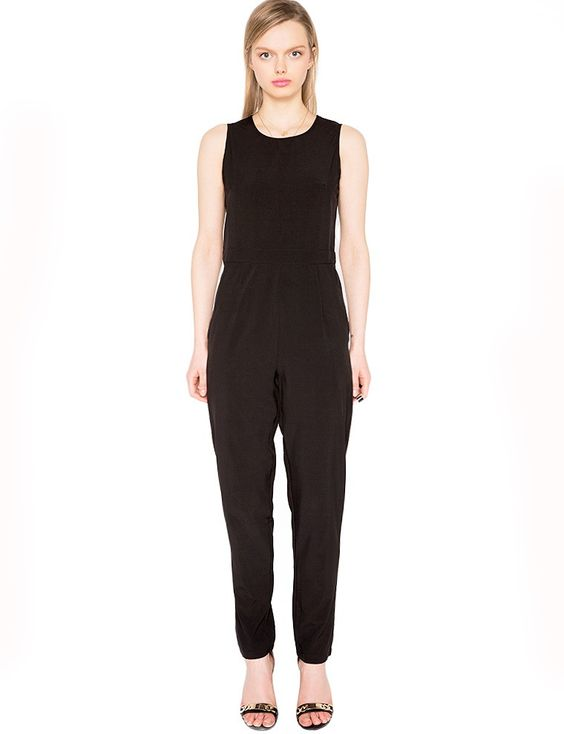 Cute Black Jumpsuit - Silk Jumpsuit - Party Jumpsuit - $54 | Cheap ...
