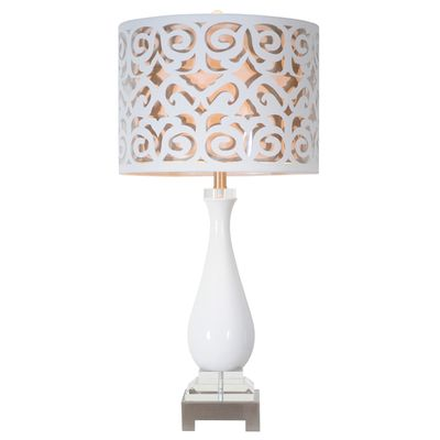 Couture Los Feliz Table Lamp is beautifully handcrafted, to add a modern style to any room | $440 | 15 x 15 x 11"