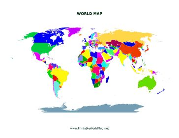 This Printable World Map Shows All Of The Continents With - Different continents of the world