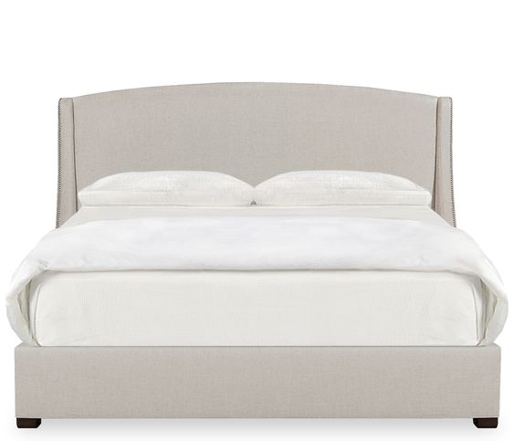 Park avenue king upholstered bed make a dramatic style for Dramatic beds
