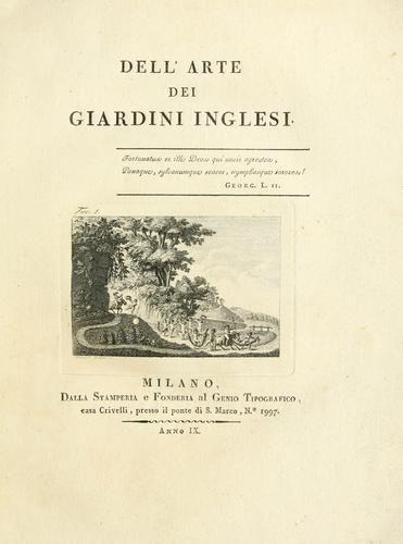 Cover of: Dell'arte dei giardini inglesi. by Ercole Silva