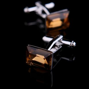 Brown Crystal Base Cufflinks for $37.99