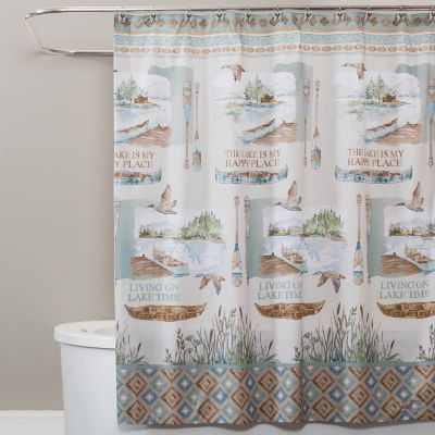 Bathroom Shower Curtain Antique Fishing Lure Design Fishing