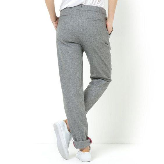 Pantalon en tweed SOFT GREY