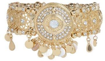 River Island Womens Gold tone embellished arm cuff