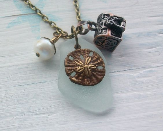 sea glass and treasure chest