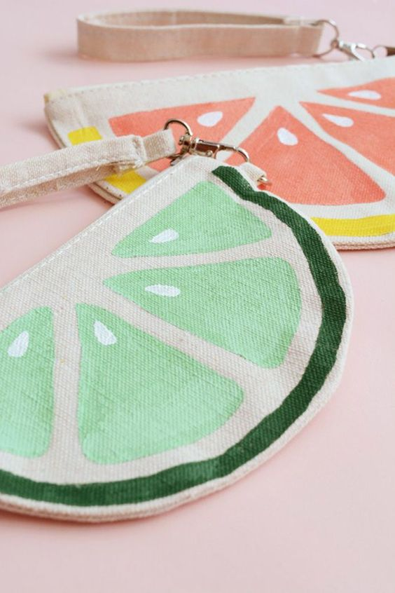 Citrus Slice Bag, tutorial via Oleander + Palm: