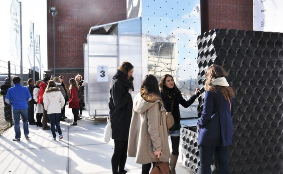 Opening  of the 3D Print Canal House expo in March 2014 by Marije van Woerden