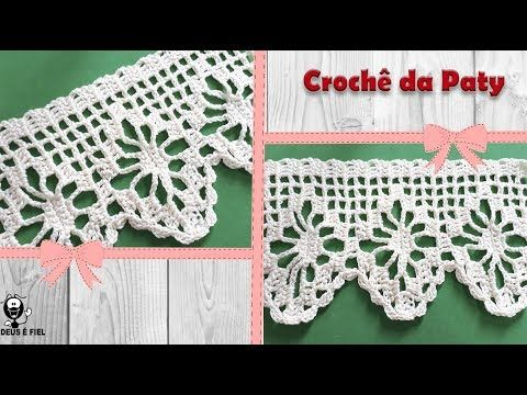 Barrado Aranha De Croche Facil 85 Crochet Border Youtube Com