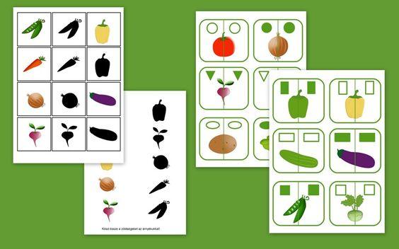 Letölthető ovis feladatok a zöldségekről