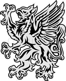 Griffin auf weißem Hintergrund