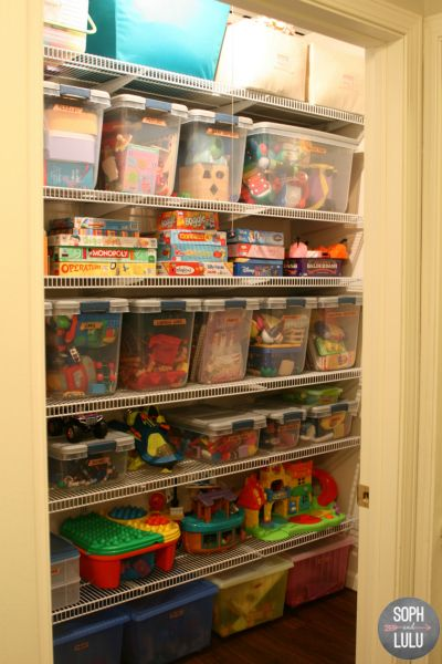 Organizing a Play Room Closet | Soph and Lulu: