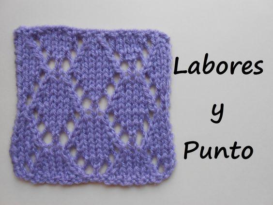 Este punto es muy sencillo de tejer y se puede aplicar a - Puntos para tejer ...