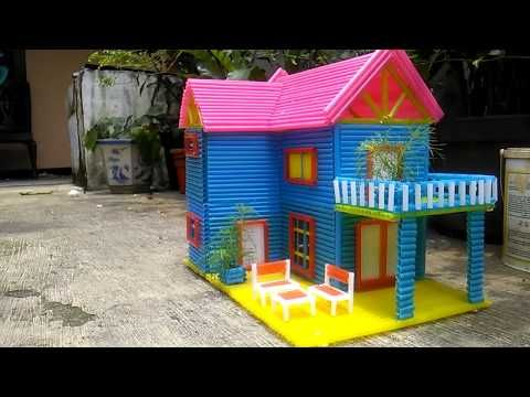 Cara Membuat Rumah Dari Sedotan Youtube Rumah Boneka