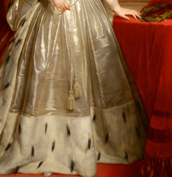 """""""Portrait of Queen Anna of the Netherlands, née Grand Duchess Anna Pavlovna of Russia"""" (1849) (detail) by Nicaise de Keyser (1813-1887)."""