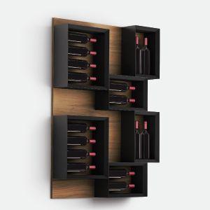 Mooi design wijnrek voor aan de muur. Esigo.5