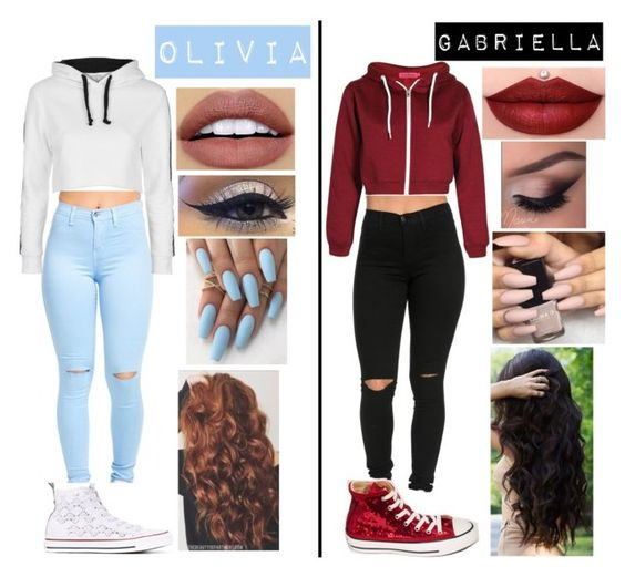 """""""Chillin with my home girl"""" by mfrias02 on Polyvore featuring NYX, Converse and Topshop"""