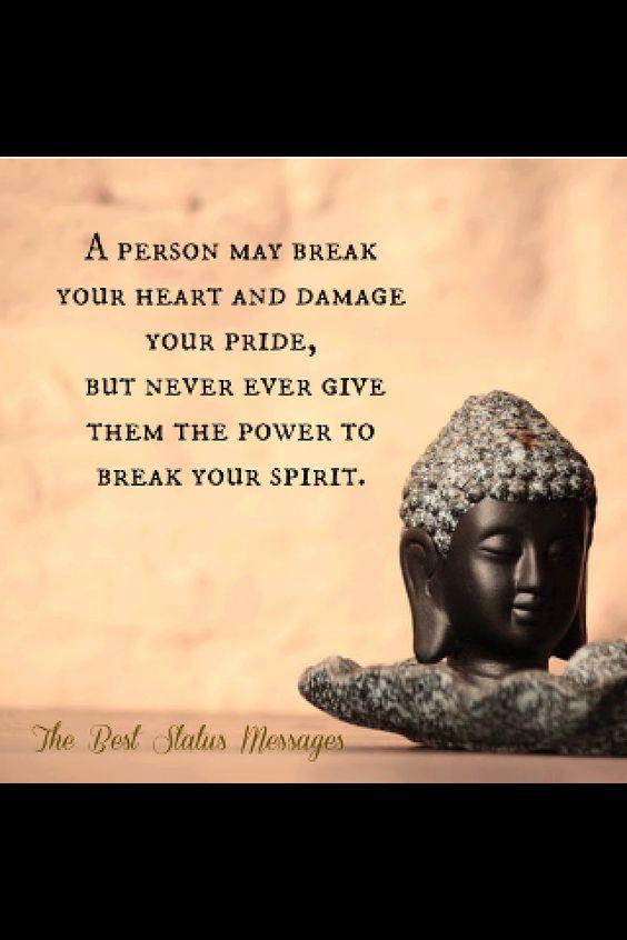Don't break the spirit.