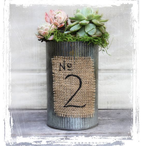 Love the look of zinc pot | Rings and Things | Pinterest | Boda ...