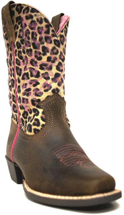 Ariat Girls Legend Leopard Print Cowgirl Boots  Does your baby