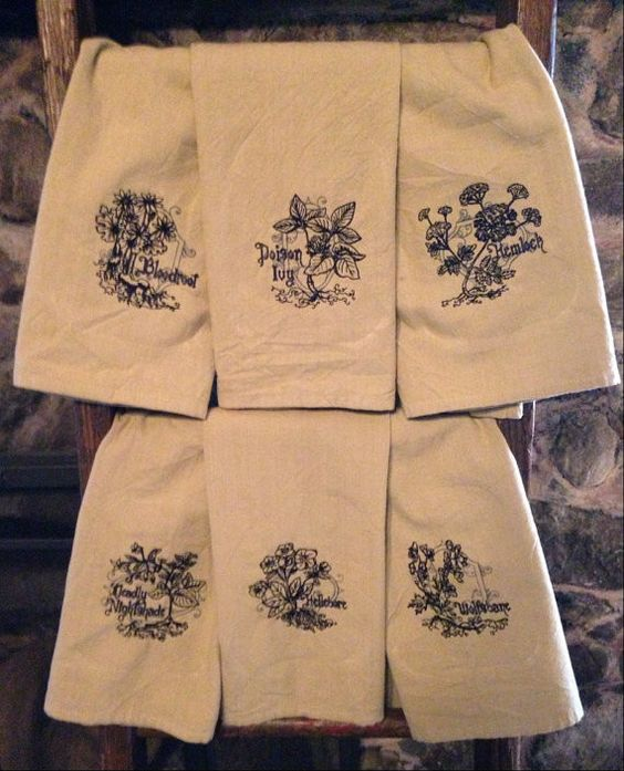 Deadly Plants Dish Towel Collection