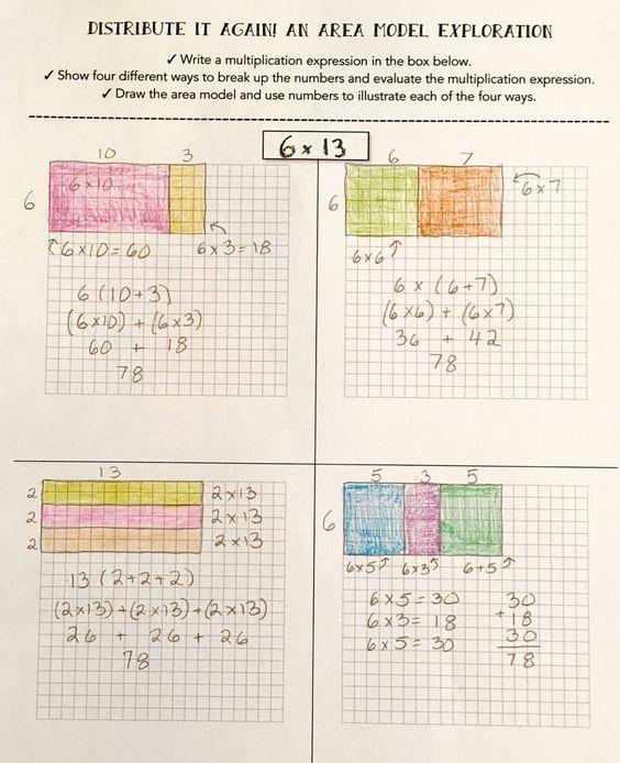 distributive property teaching multiplication and multiplication on pinterest. Black Bedroom Furniture Sets. Home Design Ideas