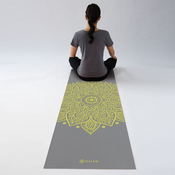 Citron Sundial Yoga Mat 5mm By Gaiam Sweat Like A Pig