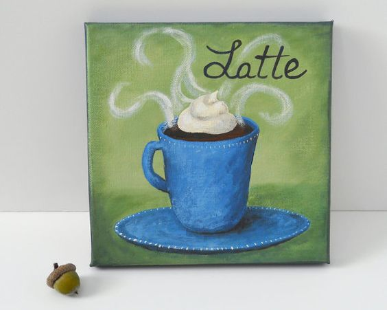 Canvases coffee wall art and originals on pinterest for 8x8 kitchen ideas