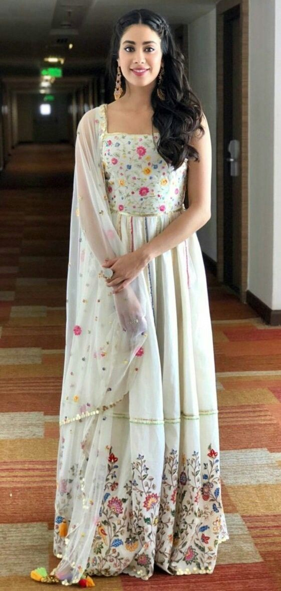 White beauty Jhanvi kapoor | Indian fashion designers, Dress indian style, Fashion