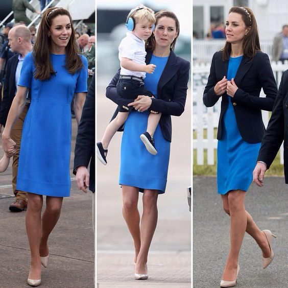 Kate looked amazing again today! William & Kate enjoyed a day out at the Royal International Air Tattoo in Gloucestershire with Prince George 🇬🇧👑 @dailymail