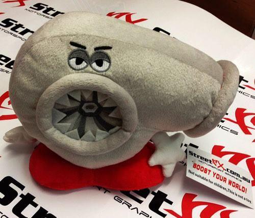 Small Plastic Turbocharger: Small TURBO TIMMY ! Plush Cushion Novelty Tim Toy! Perfect