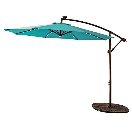 C Hopetree 10 Feet Led Offset Outdoor Cantilever Umbrella Https Www Amazon Com Dp B079jyqk2x Ref Cm Sw R P Hanging Lights Solar Lights Cantilever Umbrella