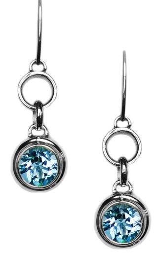 Blue Topaz Dangle Earrings BTE7493