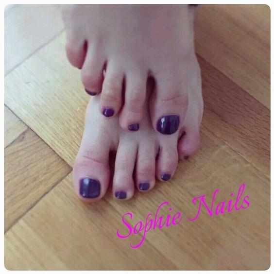 Purple pedi