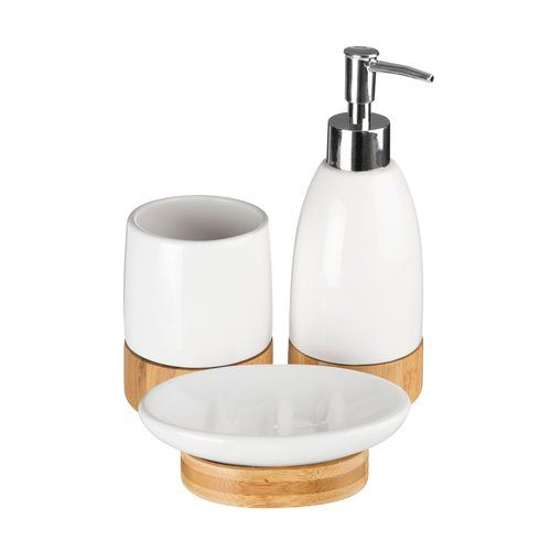 Natur Pur Alec 3 Piece Bathroom Accessory Set Bathroom Accessories Sets Bathroom Accessories Soap