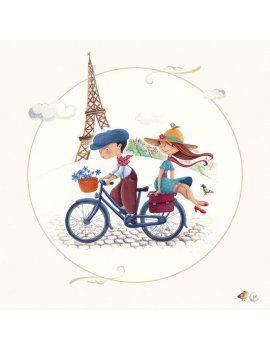 """Carte d'Art """"Paris, la Tour Eiffel"""""""