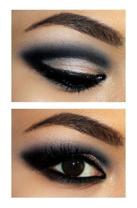 cmo pintarse ojos perfectos cosmeticos sombras estilo belleza steez maquillaje sombras de ojos negros muy bien