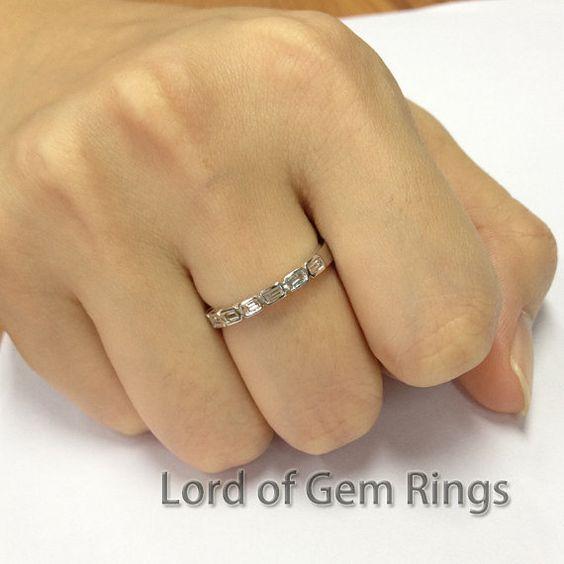 Art Deco Ring  Baguette Cut VS-H Diamonds Ring Eternity by TheLOGR