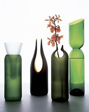 Awesome things glass art and bottle on pinterest for Cool things to do with a wine bottle