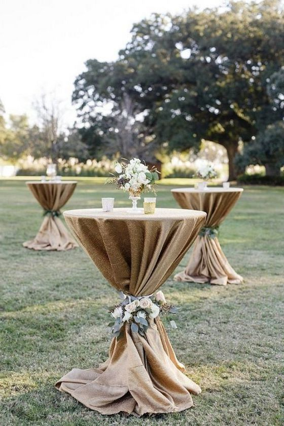 40 Incredible Ideas To Decorate Wedding Cocktail Tables In 2020