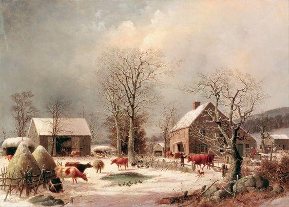 George_Henry_Durrie_-_Farmyard_in_Winter_-_Google_Art_Project.jpg (5759×4134)