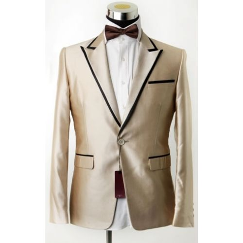 Gold Tuxedo with Black tape on the lapel | Prom! | Pinterest