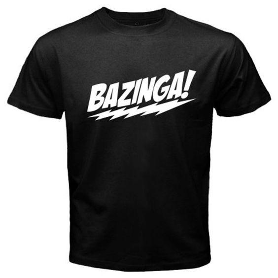 Nice BAZINGA Big Bang Theory Basic Tee Black T-Shirt | Shirt ...