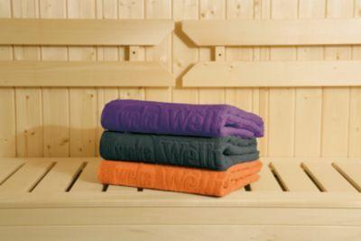 Mit dem WEKA Spezial-Saunahandtuch fühlt sich jeder Saunagang wie ein Ausflug in die Karibik an - Sie schweben auf Wolke 7!