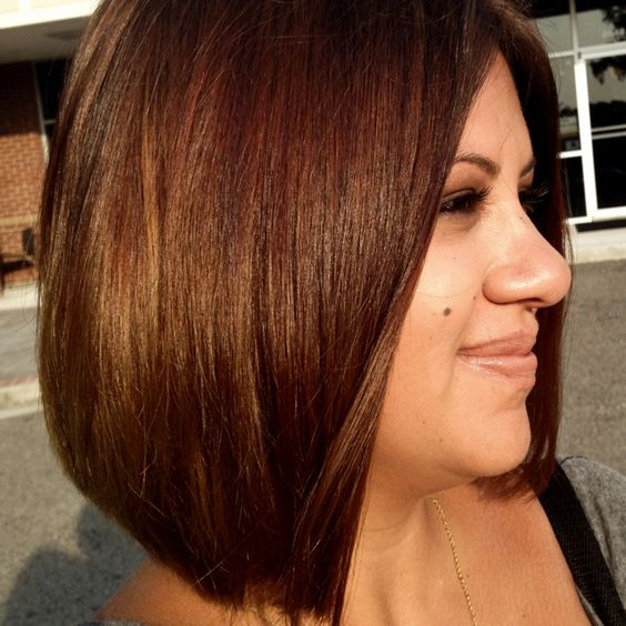 Chocolate / brown / bob / lob / long bob /  brunette / short / straight / haircut / brunette / hair